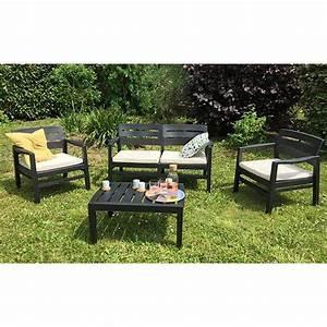 Table De Jardin Grise : salon jardin java canap fauteuils table basse r sine ~ Dailycaller-alerts.com Idées de Décoration
