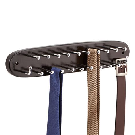walnut tie belt rack the container store
