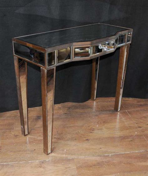 art deco mirror console table mirrored hall tables furniture