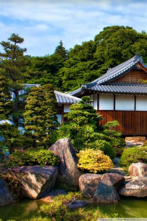 japanese garden ultra hd desktop background wallpaper