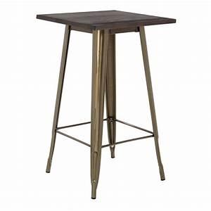Table Haute En Bois : table haute lix bross e en bois sklum france ~ Dailycaller-alerts.com Idées de Décoration