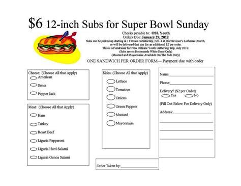 sandwich order form template sampletemplatess