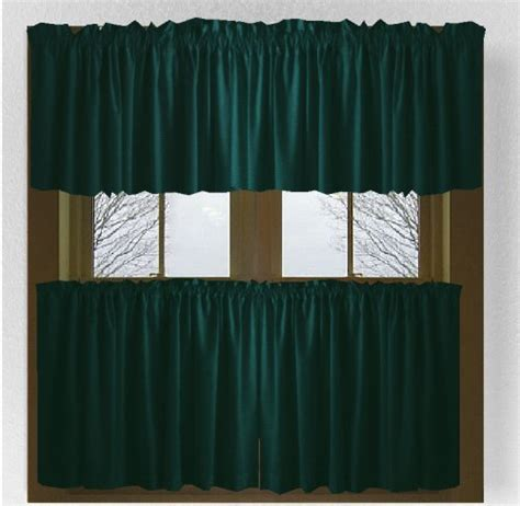 Solid Dark Teal Colored Café Style Curtain (includes 2