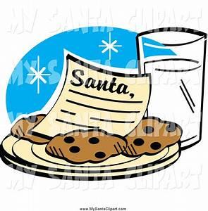 Santa Cookies And Milk Clip Art (31+)