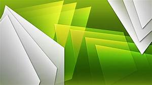 White and green shapes wallpaper #26421