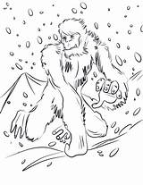 Yeti Coloring Colouring Bigfoot Druku Kolorowanki Running Template Kolorowanka Printable Supercoloring Sheet Dzieci Dla Sketch Drukuj sketch template