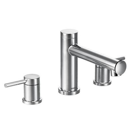 moen align 2 handle deck mount roman tub faucet trim kit