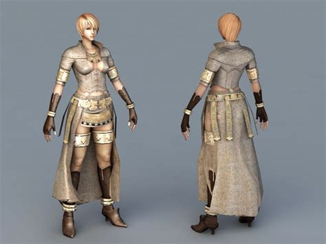 Female Mage Concept Art 3d Model 3ds Max Files Free