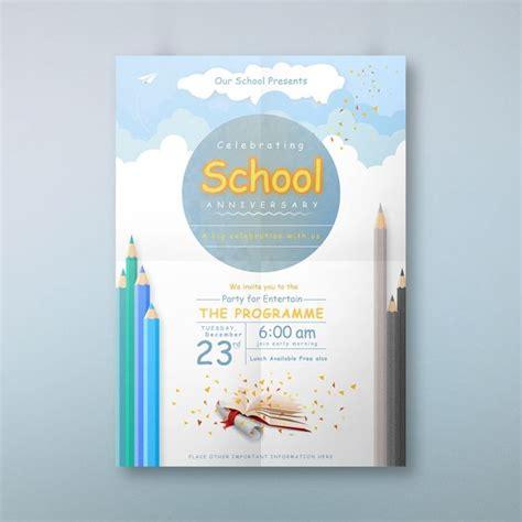 school anniversary invitation card anniversary