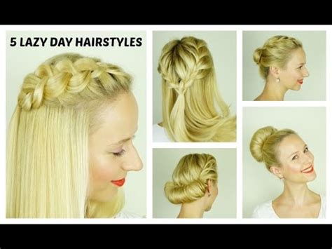 Picture Day Hairstyles For by 5 Easy Lazy Day Hairstyles And Easy Hairstyles For