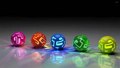 Lit Wallpapers 3d Orbs Ground Colorful