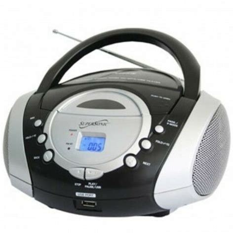 usb cd player supersonic portable audio system mp3 cd player with usb