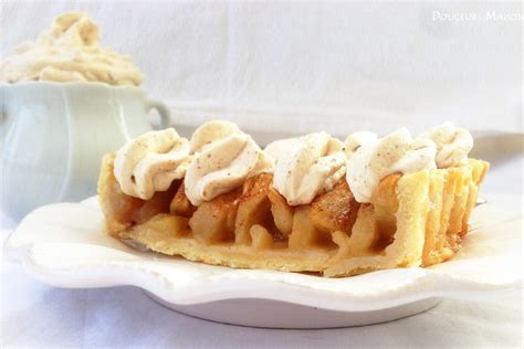 recette de tarte aux pommes chantilly praline au noix