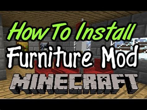 mod installer how to install furniture mod for mac pc minecraft Furniture