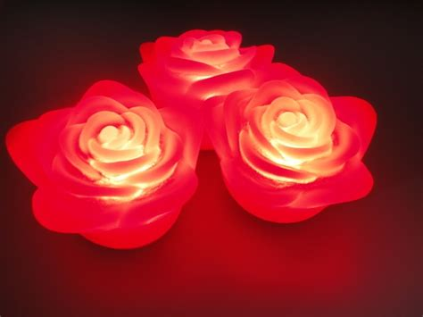3pcs Colorful Flower Canvas Abstract Painting Print Art: White Red Pink 4*6cm 3pcs Flameless Wax Like LED Floating