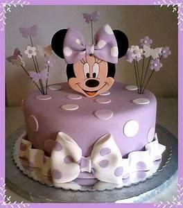 Purple Minnie mouse cake | Cake ideas | Pinterest