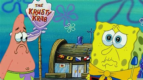 spongebob cuisine spongebob sues to shut krusty krab