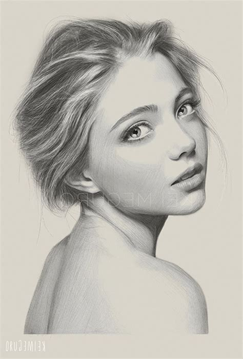 draw  realistic face side view drawing   draw
