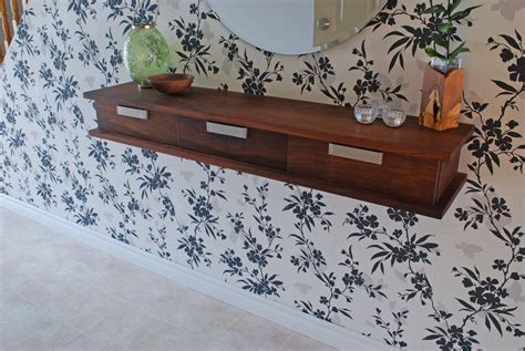 custom walnut floating wall shelf  clark wood creations