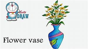 How to draw flower vase step by step ( very easy ) - YouTube