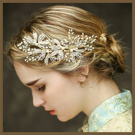 Wedding Hair Accessories by Vintage Wedding Gold Headpiece Hair Accessories Bridal