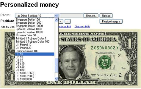 Customizable Money Template by Personalized Money Generator