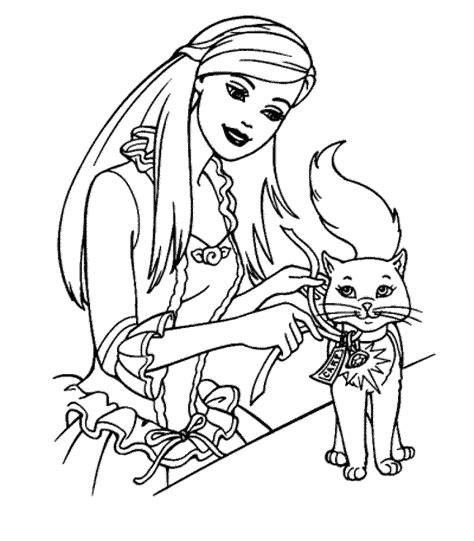 Get Barbie Coloring Pages Images