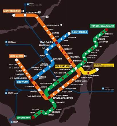 Metro Montreal Canada Map Subway System Systems