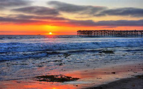 San Diego Beaches Sunset Desktop Wallpaper