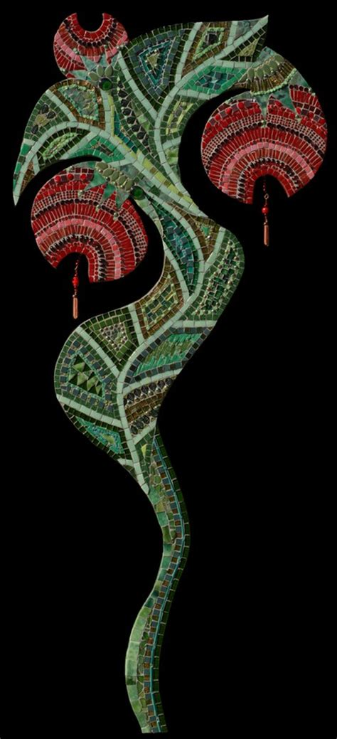 red flower irina charny mosaics