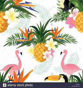 Tropical Vector Summer. Tropical summer seamless vector ...