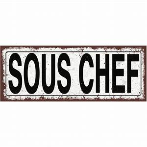 Sous Chef Metal Street Sign