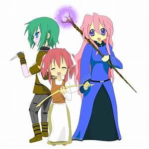 Miyuki, Minami, and Yutaka by ArmorBlade on deviantART