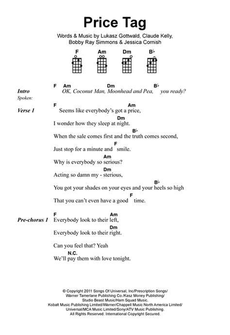 Price tag guitar chords video games