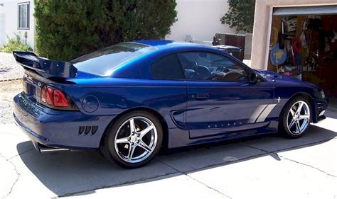 moonlight blue  saleen  ford mustang coupe