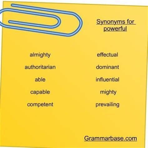 powerful synonyms english thesaurus visit grammar lessons
