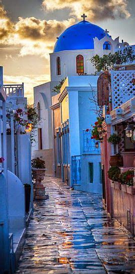 Santorini Island Street View ~ Greece Beautiful Places