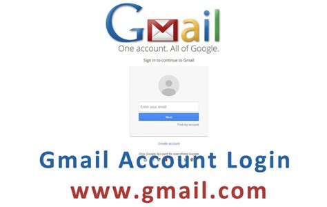 Gmail Email Login Page