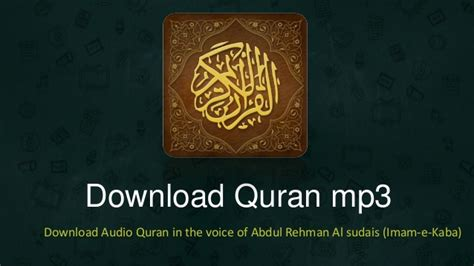 Quran Mp3  Mp3 Quran Download
