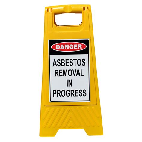 frame sign asbestos removal  progress
