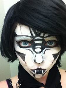 Black and White Demon face-paint by princessgemdragon on ...