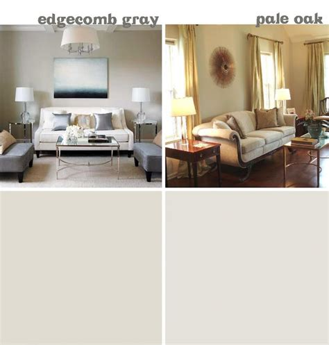 benjamin edgecomb gray and pale oak wall color