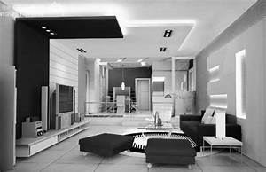Good black and white living room HD9H19