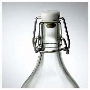 Bouteille En Verre Ikea : korken bouteille avec bouchon verre transparent 1 l ikea ~ Teatrodelosmanantiales.com Idées de Décoration