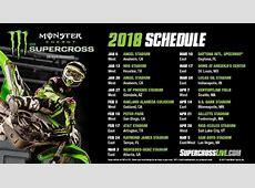 2018 Monster Energy Supercross Series Schedule