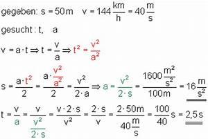 Geschwindigkeit Von Elektronen Berechnen : klasse 10 l sung der aufgaben zur beschleunigten bewegung ~ Themetempest.com Abrechnung