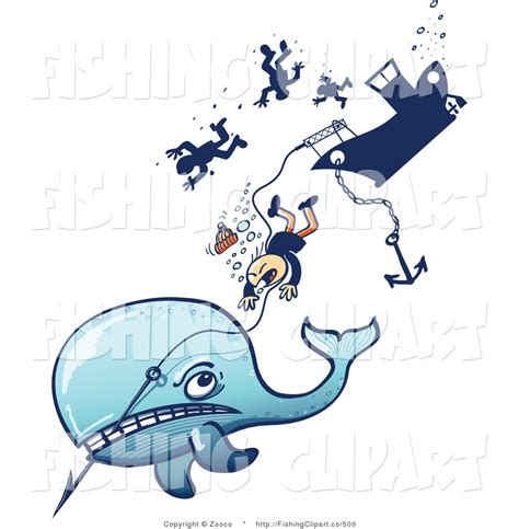 Whaling Boat Clipart by Clip Of A Whale Pulling Hunters By Zooco 500