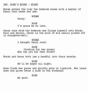 image gallery movie script format With camera script template