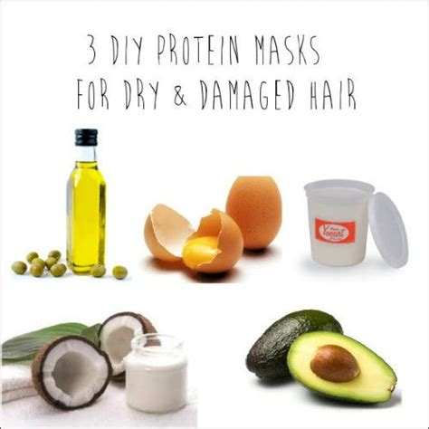 ideas  hair mask  damaged hair dry damaged