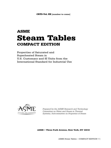 ASME Steam Tables_ Compact Edition   Steam   Enthalpy